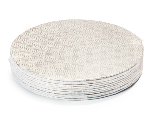12'' Round Silver Cake Board 1/8 Pqt 12
