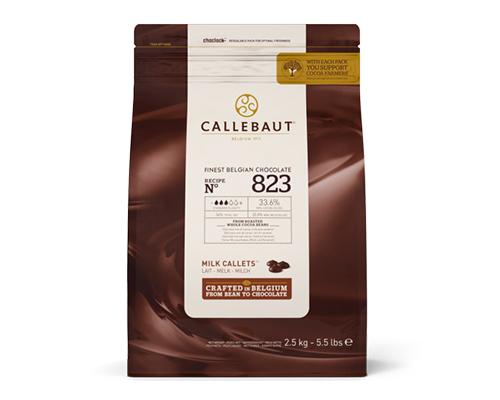 823 Callebaut Milk Chocolate Callet 33% 8X2.5 Kg