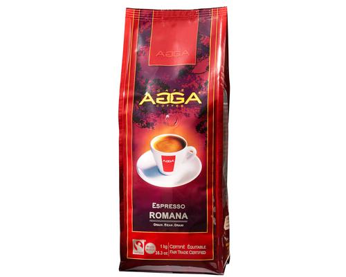 Agga Café Espresso Romana Grains 1 Kg