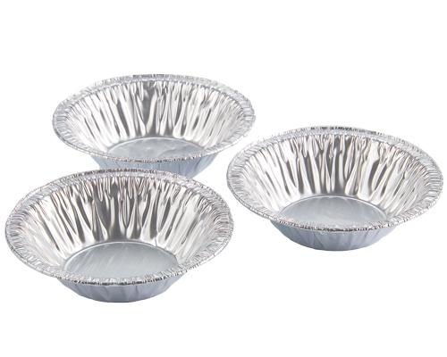 Alcan 3'' Aluminum Medium Pie Tart Plate Qty 5000