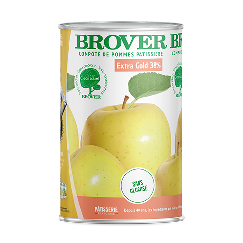 Apple Sauce Extra Gold 38% 3 X 4.1 L Brover