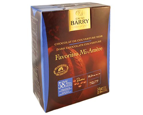 Barry Dark Chocolate Pistoles 58% Semi-Sweet Favorite 5 Kg
