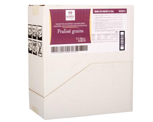 Barry Hazelnut Praline Grains 3 X 1Kg