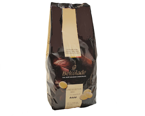 Belcolade White Chocolate Pistoles 28% 10 Kg