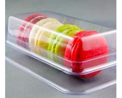 Box 4 Macarons Base And  Cover Clear 20 Units