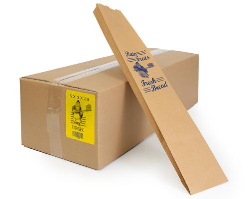 Brown Baguette Bread Bag 5/3/28 1000/Case