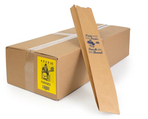 Brown Bread Bag 4 X 2 X 25 1000/Case