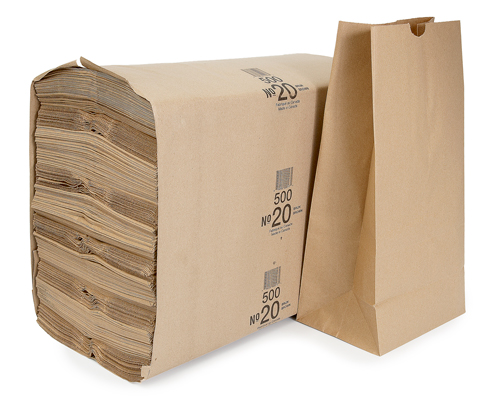Brown Grocery Bag 20 Lb Cse 500