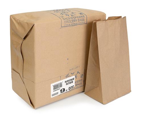 Brown Grocery Bag 6 Lb Box 500