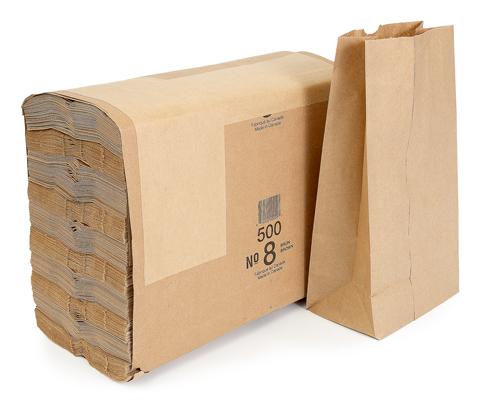 Brown Grocery Bag 8 Lb Box 500
