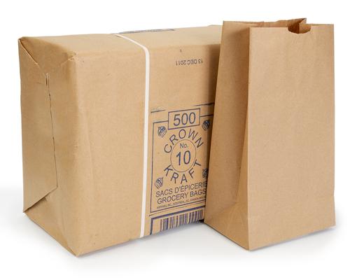 Brown Grocery Bags 10 Lb Box 500