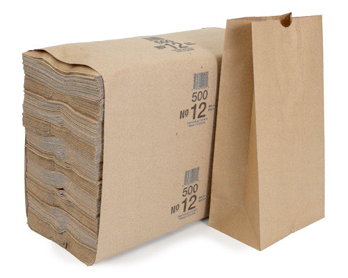 Brown Grocery Bags 12 Lbs Box 500