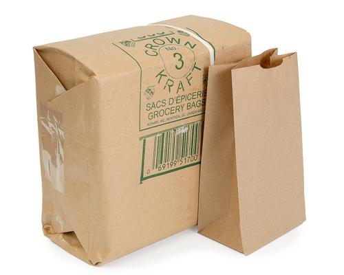 Brown Grocery Bags 3 Lb Box 500