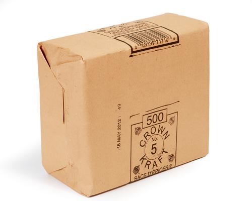 Brown Grocery Bags 5 Lb Box 500