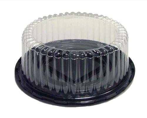 Cake Cont. Combo 8''X3.5'' Clear/Black  100Un
