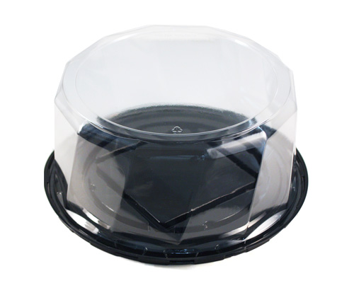 Cake Container Combo 9''X5''  Clear/Black Qt 100