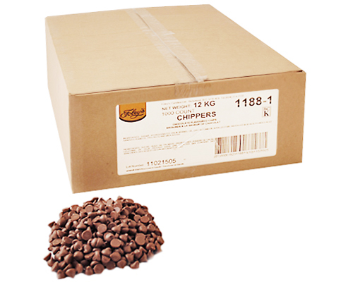 Chocolate Flavored Chips 1000Ct (1188-1) 12 Kg