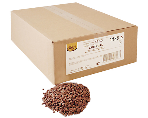 Chocolate Flavored Chips 4000Ct 12 Kg