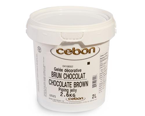 Chocolate Piping Jelly 2.6 Kg Cebon