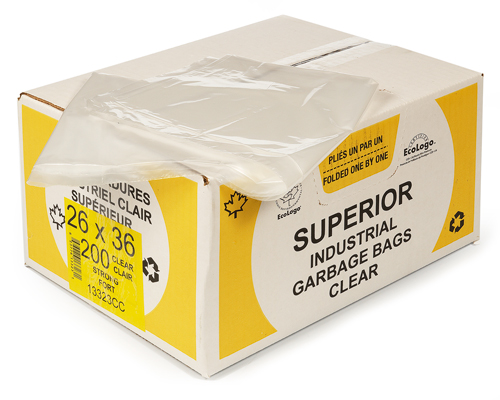Clear Garbage Bag 26''X36'' 200Un