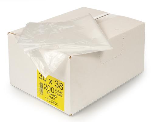 Clear Garbage Bag 30''X38'' 200Un