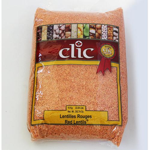 Clic Red Lentils Split 10 Kg