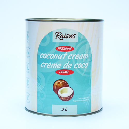 Coconut Cream 17-18 %  6 X 3 Lt  Sulfites Free