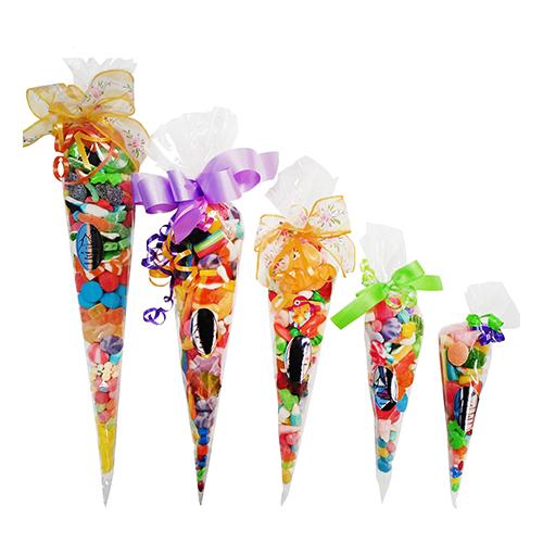 Cone Shaped Transparent Candy Bags  16.5 Cm X 38 Cm 100 Units
