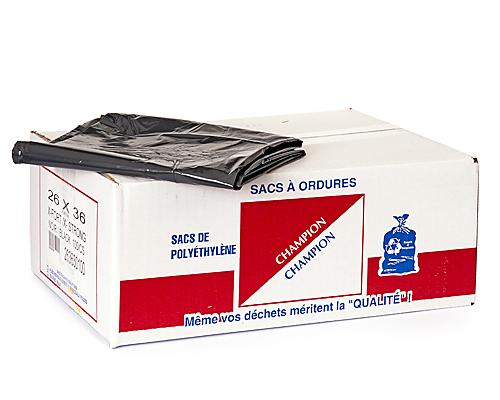 Extra-Strong Black Garbage Bag 26''X36'' 100Un
