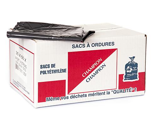 Extra-Strong Black Garbage Bag 35''X50'' 100Un