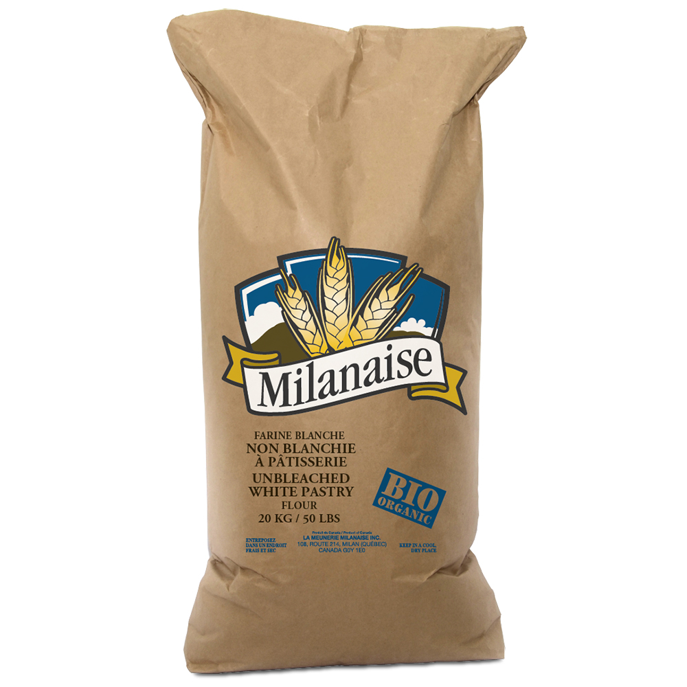 Non-Bleached White Flour With Organic Pastry 20 Kg