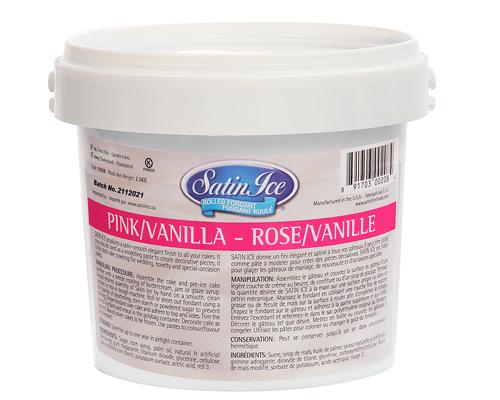 Pink Vanilla Ice Rolled Fondant 2.5 Kg Satan Ice