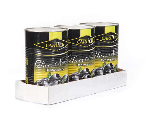 Pitted Black Olives 3X9 Lb