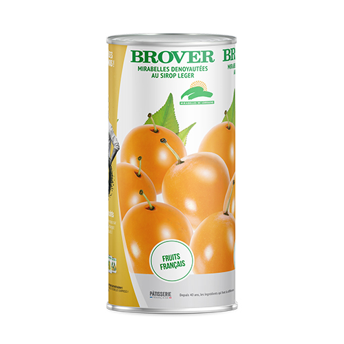 Pitted Mirabelle Plums In Light Syrup 1700 Ml Brover