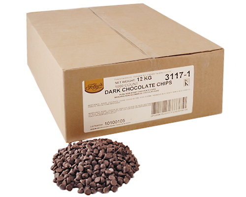 Pure Chocolate Chips 4000Ct (3117-4) 12 Kg