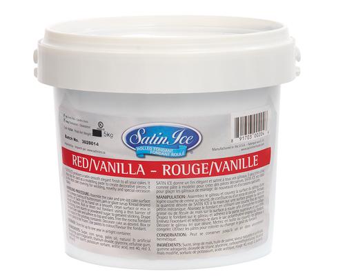 Red Vanilla Ice Rolled Fondant 2.5 Kg Satin Ice