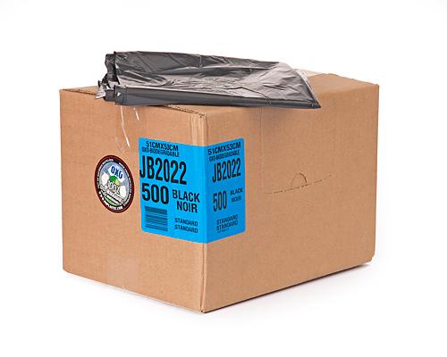 Regular Black Garbage Bag 20''X22'' 500Un