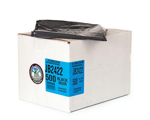 Regular Black Garbage Bag 24''X22'' 500Un