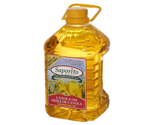 Saporito Canola Oil  6X3 L