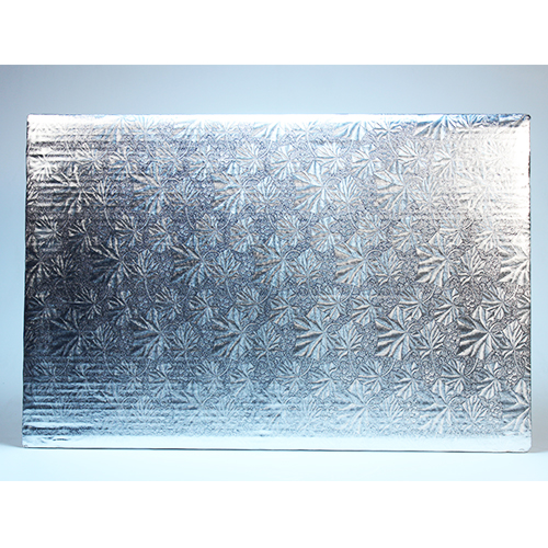 Silver Cake Board 1/2 16X24 Rectangular Pqt 6