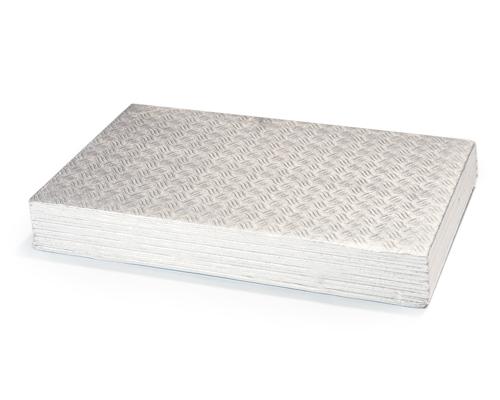 Silver Cake Board 1/8 10X15 Rectangular Pqt 12