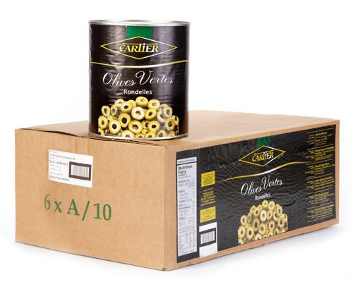 Sliced Green Olives 6X100 Oz