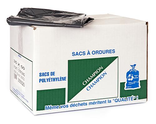 Strong Black Garbage Bag 35''X50'' 200Un