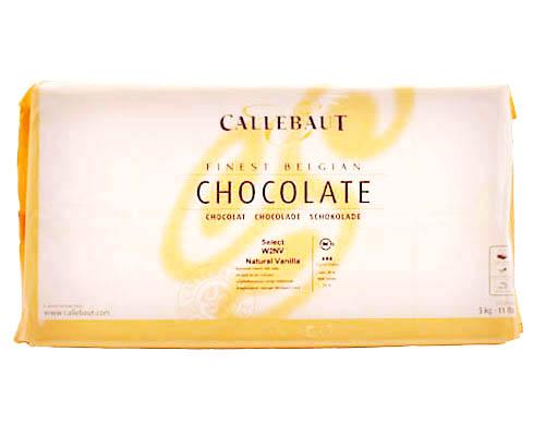 W2 Callebaut White Chocolate Block 28% 5 Kg