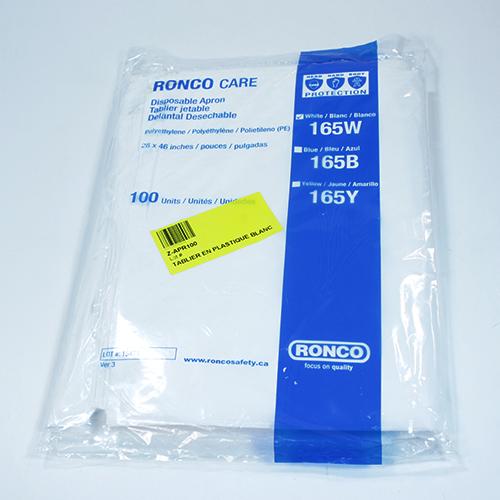 White Plastic Apron Standard Grade / 100